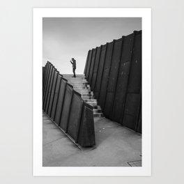 Lone Man Art Print