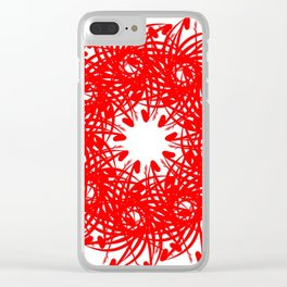 Red Wreath Clear iPhone Case