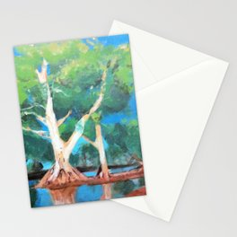 Riverbank Trees Stationery Cards