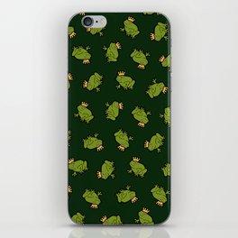 Frog Prince Pattern iPhone Skin
