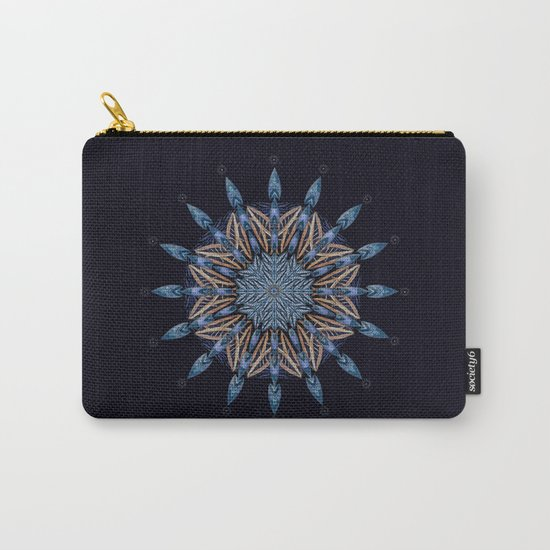Sphinx Moth Pattern In Blue Carry-All Pouch