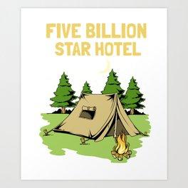Cool Camping Gift Print Camp RV And Camper Print Art Print