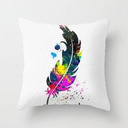 Feather 004 Throw Pillow