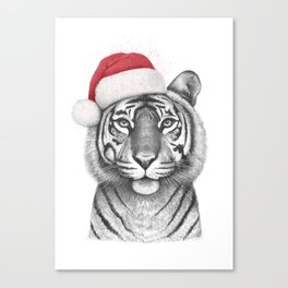 Christmas Tigress Canvas Print