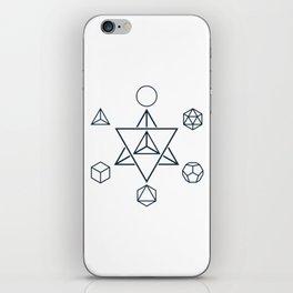 Merkaba and the Platonic Solids, Sacred Geometry iPhone Skin