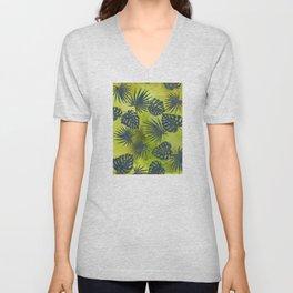 Tropical Leaves Pattern 2 Unisex V-Neck
