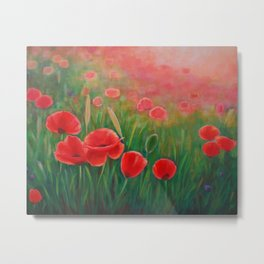 Poppy Meadow Metal Print