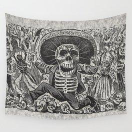 Calavera Oaxaqueña - Día de los Muertos - Mexican Day of the Dead by Jose Guadalupe Posada Wall Tapestry