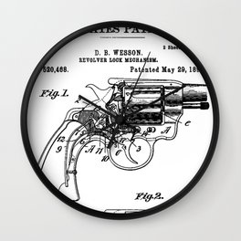 Smith And Wesson Revolver Patent 1894 Wall Clock