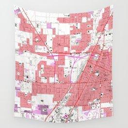 Vintage Map of Las Vegas Nevada (1967) 2 Wall Tapestry