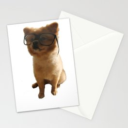 Nerdy dog Pepe Stationery Cards