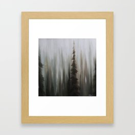 Pacific Northwest Forest oil painting by Jess Purser Framed Art Print