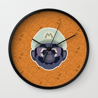 mario Wall Clocks featuring Mario by Kuki
