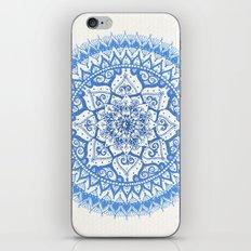 Yin Yang Mandala in Soft Blues iPhone & iPod Skin