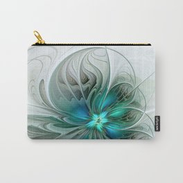 Abstract With Blue, Fractal Art Carry-All Pouch
