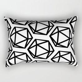 D20 Pattern Large Rectangular Pillow