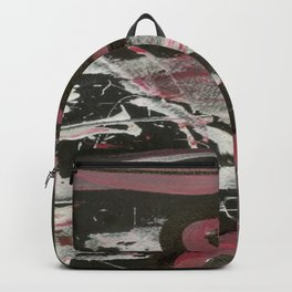 Heavy Metal Music Abstract - Black White Red - Corbin Henry Backpack