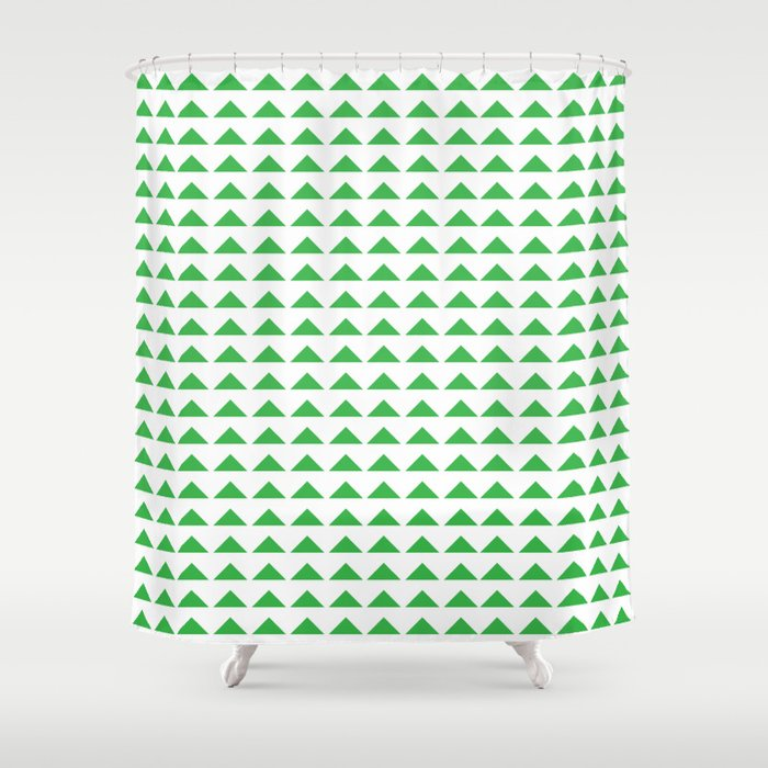 Kelly Green Arrows Shower Curtain By Doveandlyon