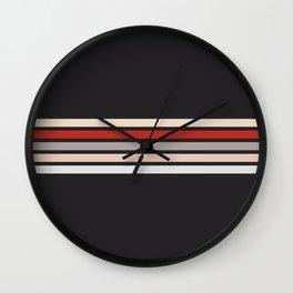 Midnight Retro Stripes Wall Clock