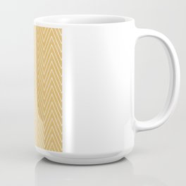 Mustard Chevron Coffee Mug