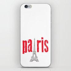 Paris Red iPhone & iPod Skin