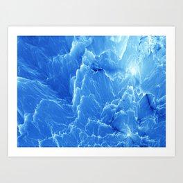 Blue mountains. Fractal pattern Art Print