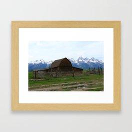 Mormon Row Iconic Barn Framed Art Print
