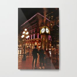Gastown at Night Metal Print