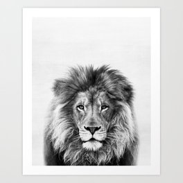 Lion, Animal, Minimal, Trendy decor, Nursery, Interior, Wall art, Photo Art Print