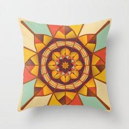 Multicolored geometric flourish Throw Pillow
