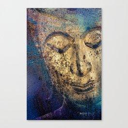 Buddha Face gold Canvas Print