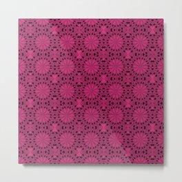 Pink Yarrow Star Metal Print