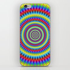 Blue Red Yellow and Green Toothed Rings iPhone & iPod Skin