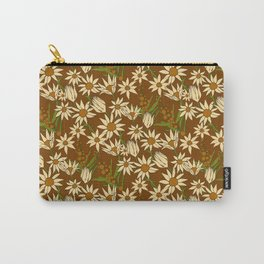 Flannel Flower Fields Carry-All Pouch