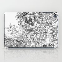 naruto iPad Cases featuring Naruto characters doodle by leemarej