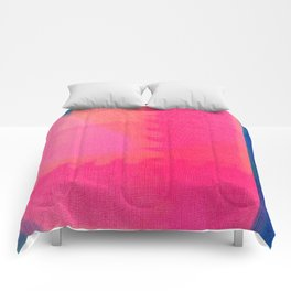 Art abstract pink blue Comforters