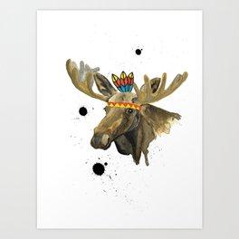 Mr Moose! Art Print