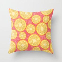 Lemon Loco Throw Pillow