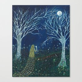 To the moon Canvas Print