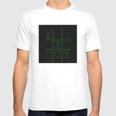 Retro 8-Bit pixel Computer Game Mens Fitted Tee White MEDIUM