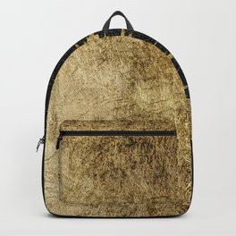 Faux Gold and Black Starry Night Brushstrokes Backpack