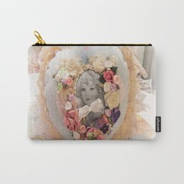 Victorian Girl in a Heart Carry-All Pouch