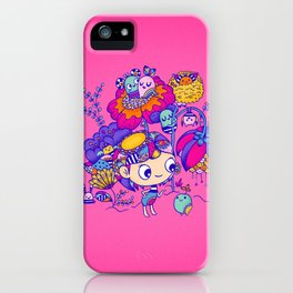 Flower Garden Friends iPhone Case