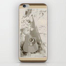 Rustic Guitar iPhone Skin