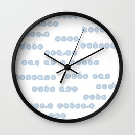 Blue Insults Wall Clock