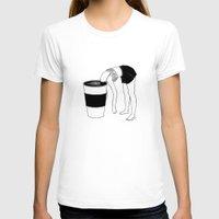 coffee T-shirts featuring Coffee, First by Henn Kim