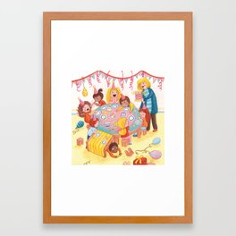 A Little Chaotic Birthday Party Framed Art Print