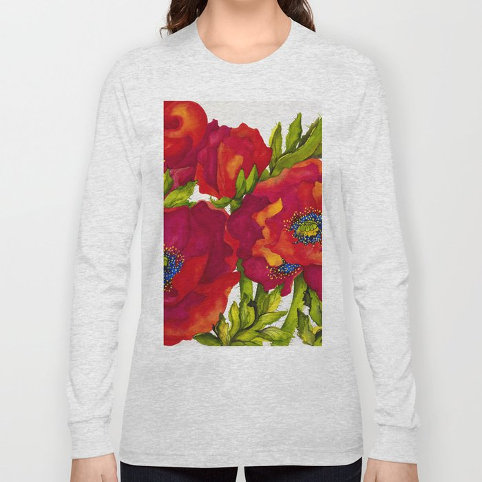 Bold Poppies Long Sleeve T-shirt