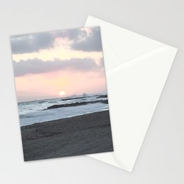 Beach Sunset Modern and Vintage Beach Aesthetic Photography of Newport Beach Colorful Pink Blue Sky Stationery Cards