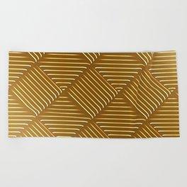 Diagonal Stripes Background 44 Beach Towel